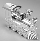 Click for Larger Image -- Silver Plated Train Bank