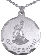 Engraved Gift : Bridesmaid Pendant