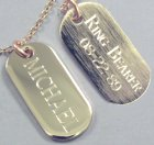 Engraved Gift : Pre-Engraved Ring Bearer Tag