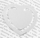 Engraved Gift : Small Heart Bookmark