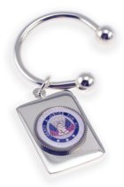 Click for Larger Image -- Veteran Serviceman - Rectangular Key Chain