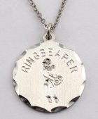 Engraved Gift : Ring Bearer Pendant