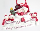 Click for Larger Image -- Snow Family Christmas Ornament -5
