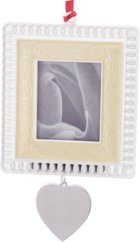 Engraved Gift : Pearlized Lace Photo Frame/Ornament -Rectangular