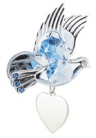 Engraved Gift : Dove /w Blue Crystal Magnet