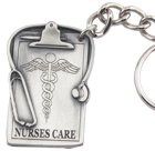 Engraved Gift : Nurses Care Keyring