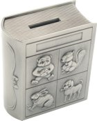 Engraved Gift : Story Book Coin Bank
